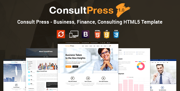 Consult Press - Finance & Consulting Business HTML5 Template