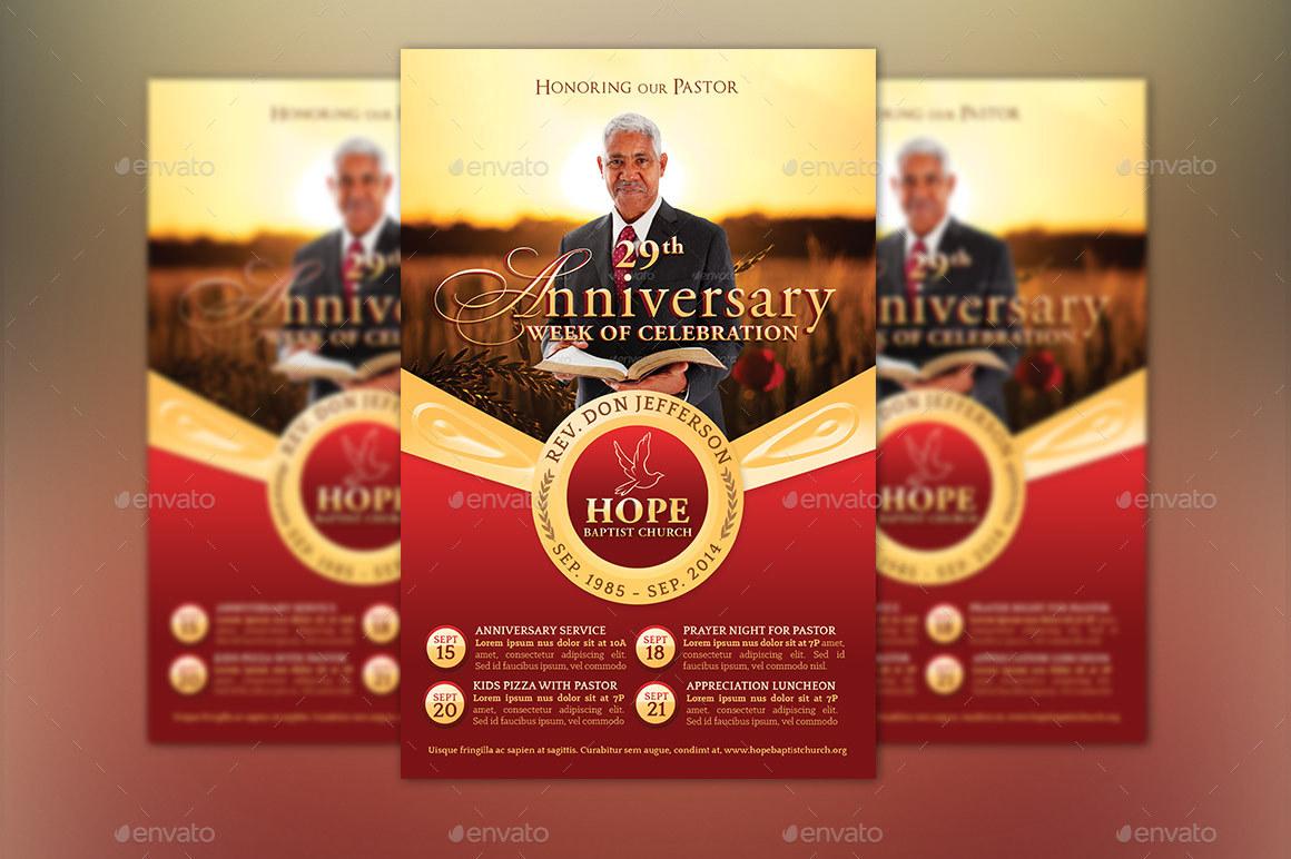 Pastor Anniversary Template Kit by Godserv | GraphicRiver