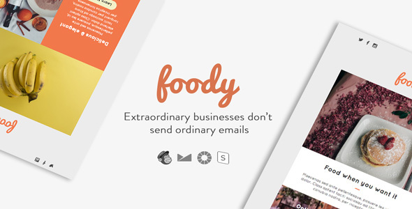 Foody - Responsive Email + StampReady Builder