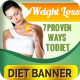 Multipurpose Weight Loss and Diet Banners