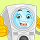 Washing Machine Mascot Cartoon Vector Illustration