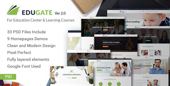 EduGate - Multiconcept Education PSD template