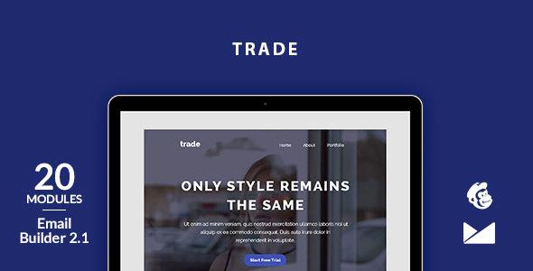 Trade Email Template + Online Emailbuilder 2.1