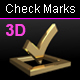 3D Check Marks