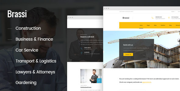 Brassi - Responsive Html Template For Your Business