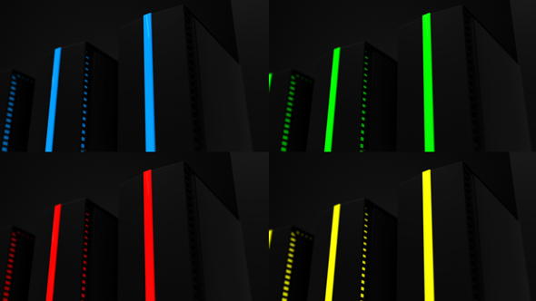 Download Computer Servers Red Blue Green Yellow nulled download