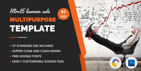 Download Multi Purpose Banners HTML5 D4 - Google Web Designer