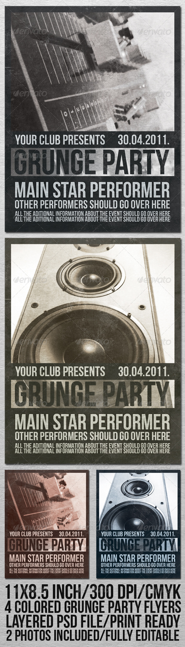 GraphicRiver GRUNGE PARTY FLYER 201857