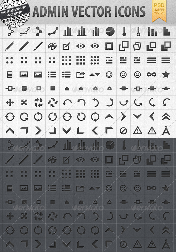 Admin Vector Shape Icons incl. CSH - Web Icons