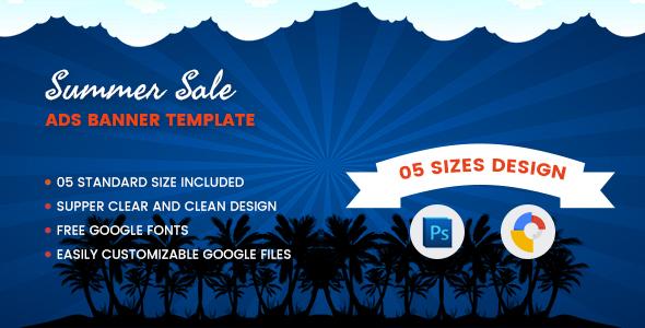Download Summer Sales Banners Html5 - Google Web Designer