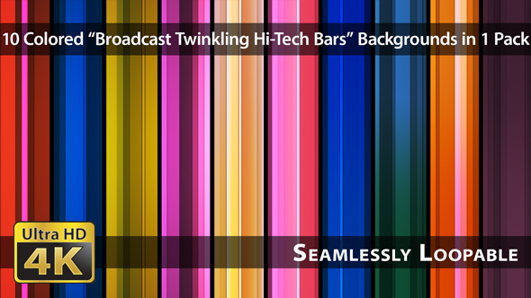 VideoHive Broadcast Twinkling Hi-Tech Bars Pack 01 17206983