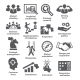 Business Management Icons. Pack 27.