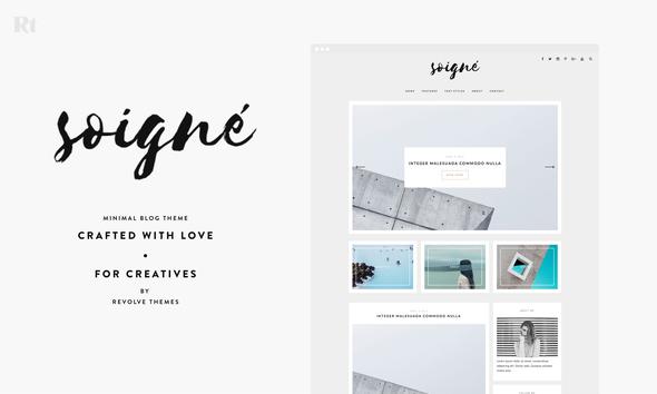 Download Soigne - A Minimal WordPress Blog Theme