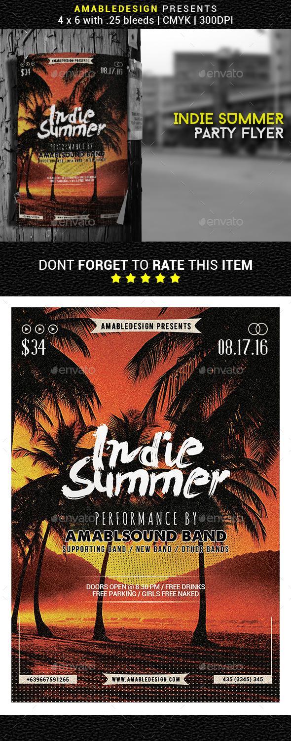 Indie Summer Flyer/Poster