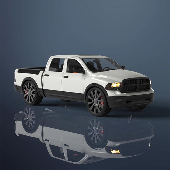 Mini Truck - 3DOcean Item for Sale