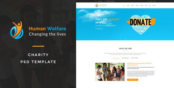 Human Welfare : Charity PSD Template