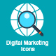 40 Flat Digital Marketing Icons