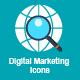 40 Flat Digital Marketing Icons
