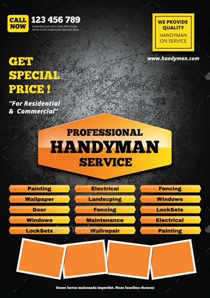 handyman flyer by monggokerso graphicriver. Black Bedroom Furniture Sets. Home Design Ideas
