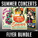 Summer Concerts Flyer Bundle