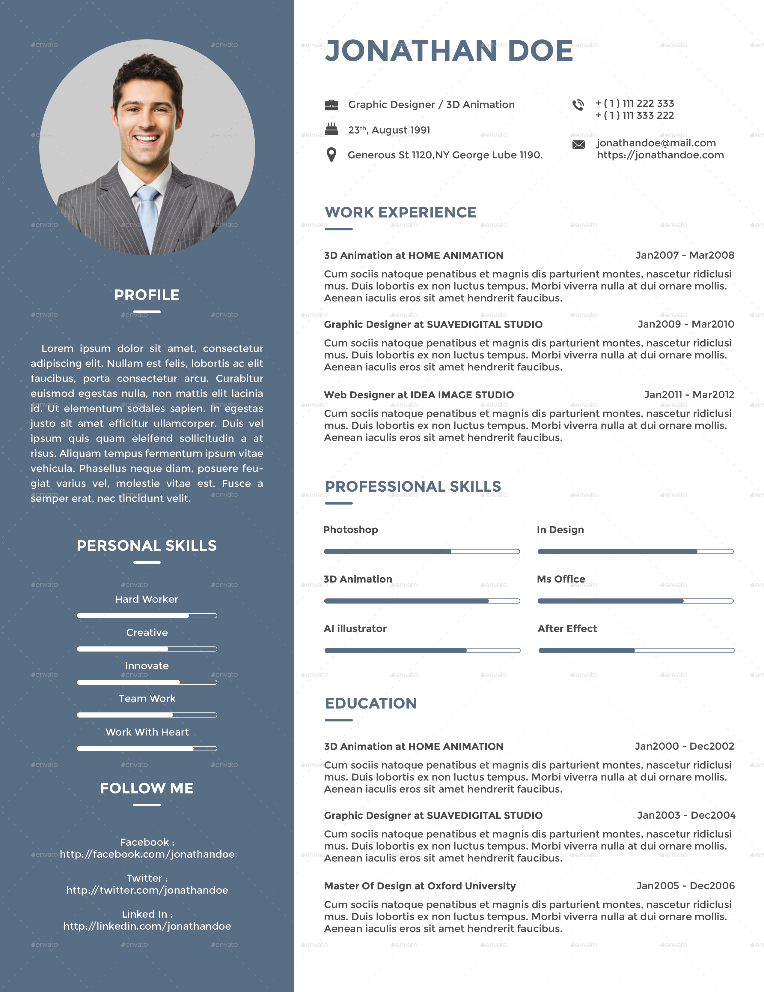 me cv bundle by suavedigital