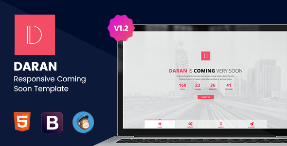 Daran - Responsive Coming Soon Template