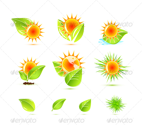 Sun and leaves - Nature Conceptual