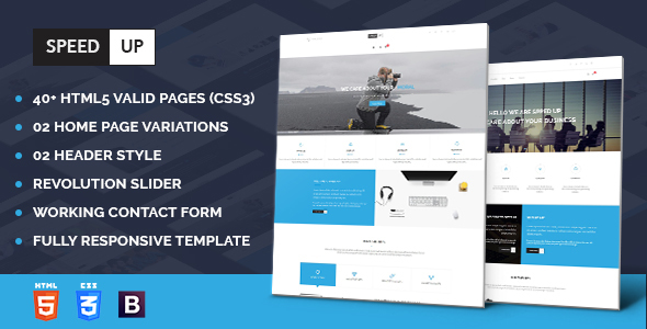 Speedup - Business Corporate and Portfolio Html Template