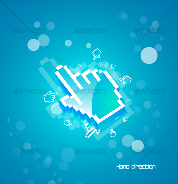 GraphicRiver Hand pointer in blue deep 66809