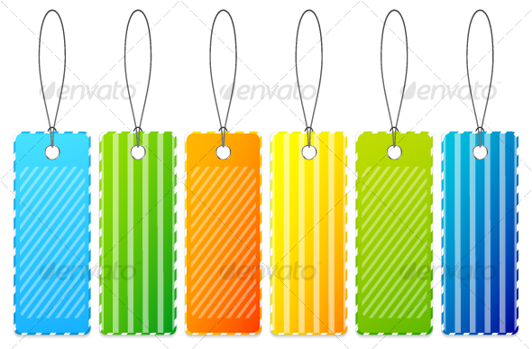 Set of colourful price tags - Objects Vectors