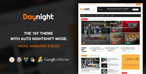 Download Daynight - WordPress News and Magazine Theme