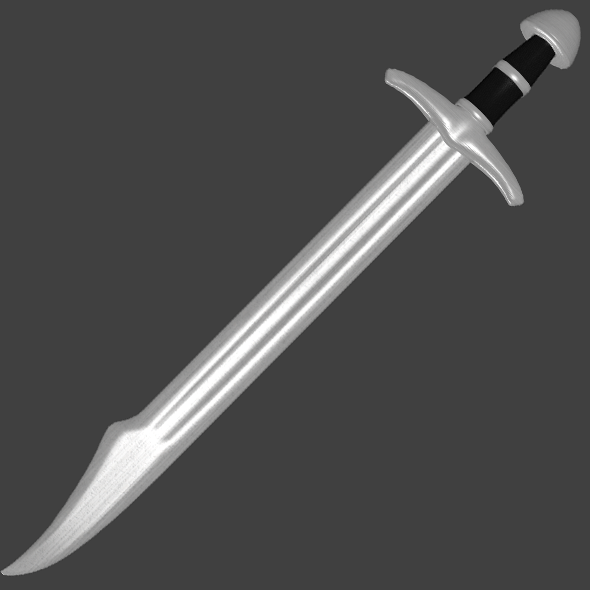 Falchion Sword - Game Ready - 3DOcean Item for Sale