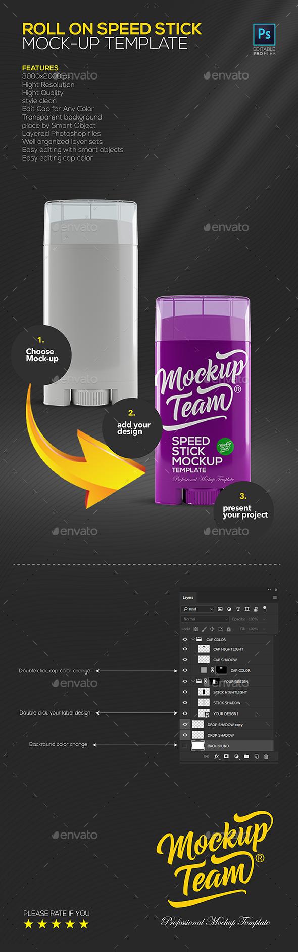 Speek Stick Mock-up Templatee