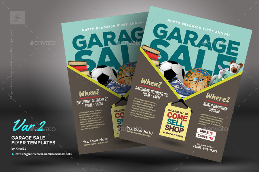 Garage Sale Flyer Templates by kinzishots – Sales Flyer Template