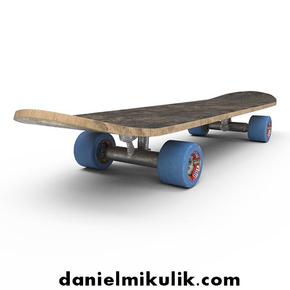 PBR Old Skateboard - 3DOcean Item for Sale