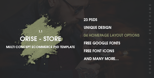 Orise Store - Ecommerce PSD Template