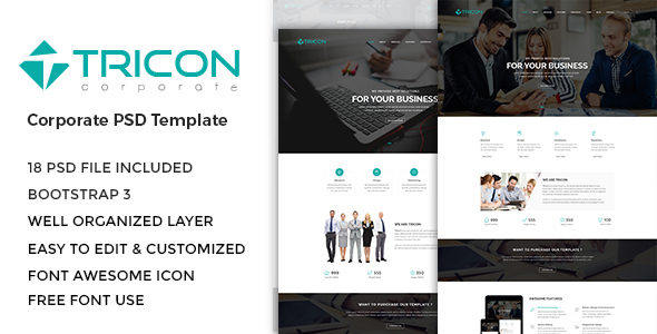 Tricon - Corporate PSD Template
