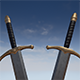 Low poly sword for game