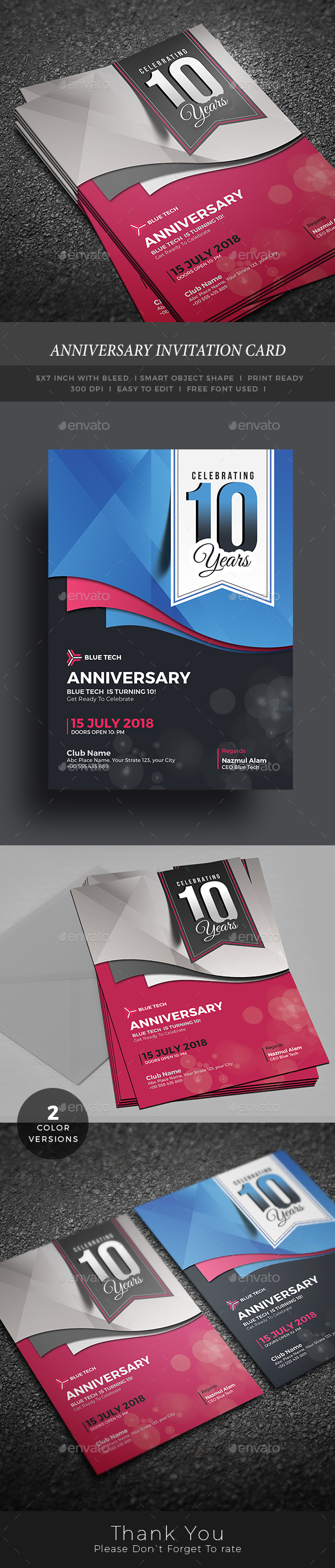 Anniversary Invitation Card
