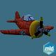 Cartoon Red Plane