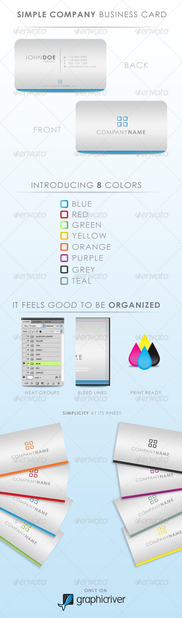 GraphicRiver Simply Company Business Card 202146