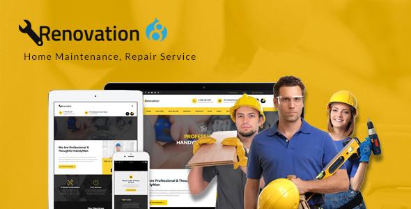 Download Renovation - Home Maintenance, Repair Service Drupal 8 Theme