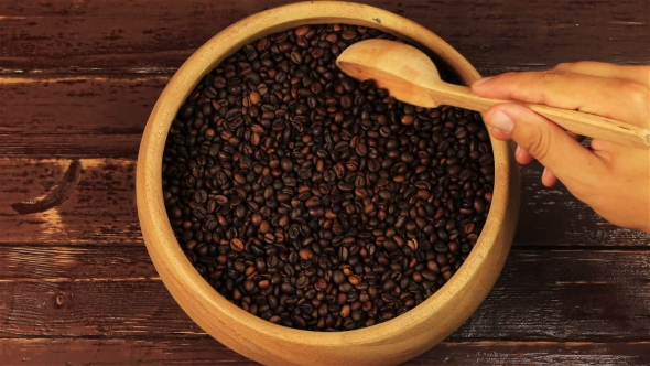 Download Coffee Beans In a Wooden Plate  nulled download