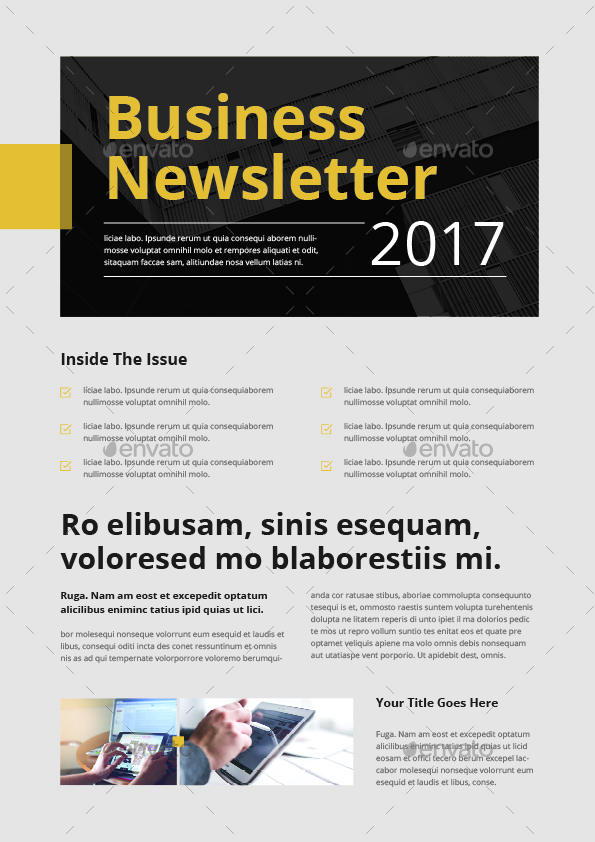 Newsletter Template by themedevisers – Business Newsletter