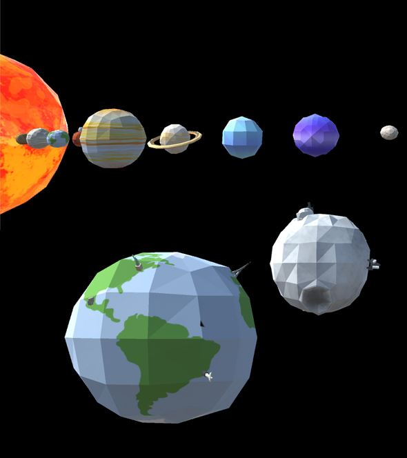 Low Poly 3D Solar System - 3DOcean Item for Sale