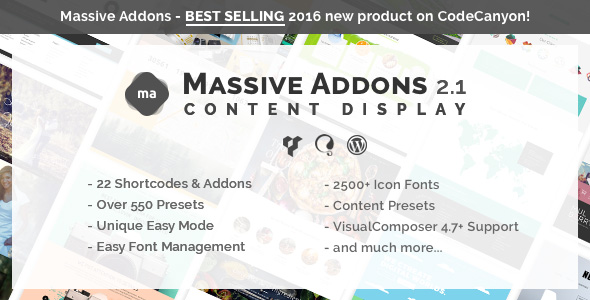 Massive Addons for Visual Composer - Content Display Pack