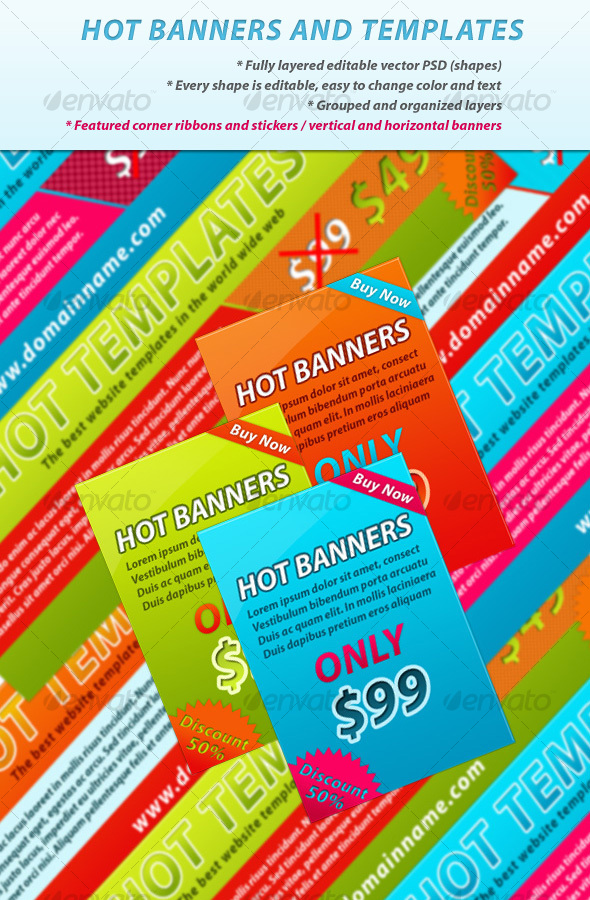 GraphicRiver Hot Web Banners 66892