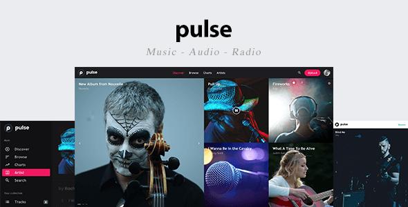 Download pulse - Music, Audio, Radio Template