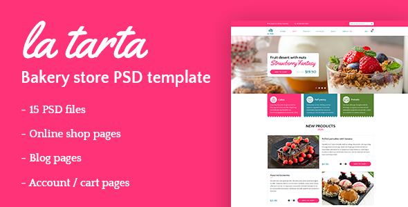 La tarta - Bakery shop PSD template