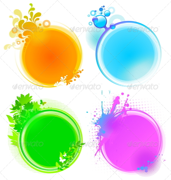 Abstract Decorative Round Frames